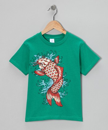 Kelly Green Koi Fish Tee - Toddler & Boys