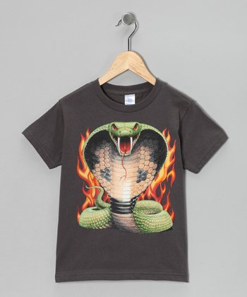 Charcoal Cobra Kai Tee - Toddler & Boys