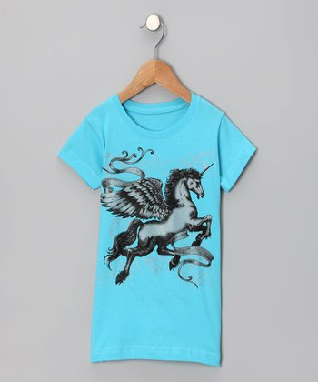 Aqua Pegasus Tee - Toddler & Girls