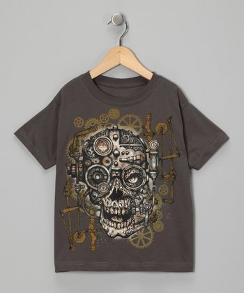 Charcoal Skull Gear Tee - Toddler & Boys