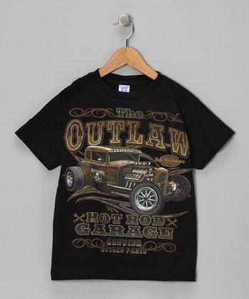 Black 'Outlaw' Tee - Toddler & Boys
