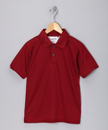 Cardinal Red Dave Polo - Toddler & Boys