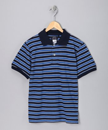 Royal Blue Chip Polo - Boys