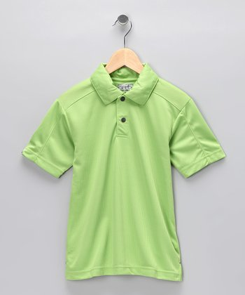 Green Colby Polo - Toddler & Boys