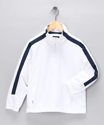 White Cameron Pullover - Toddler & Boys