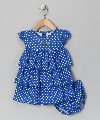 Royal Blue Florida Dress - Infant & Toddler