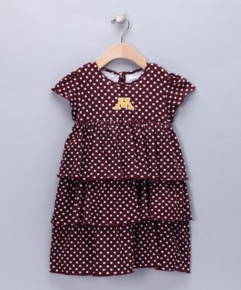 Maroon Minnesota Natasha Dress - Infant, Toddler & Girls