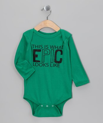 Kelly Green 'EPIC' Bodysuit - Infant
