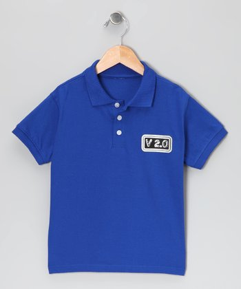 Blue 'Version 2.0' Polo - Toddler & Kids