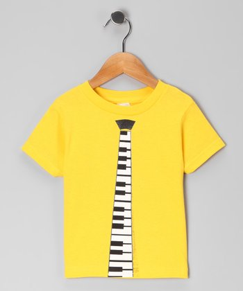 Yellow Music Tie Tee - Toddler & Boys