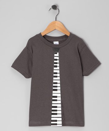 Charcoal Music Tie Tee - Toddler & Boys