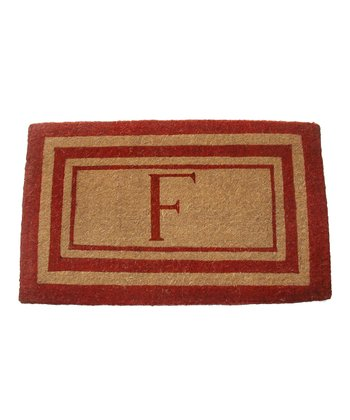 Red Imperial Initial Doormat