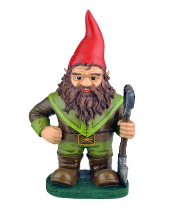 Shovel Gnome Short Garden Figurine