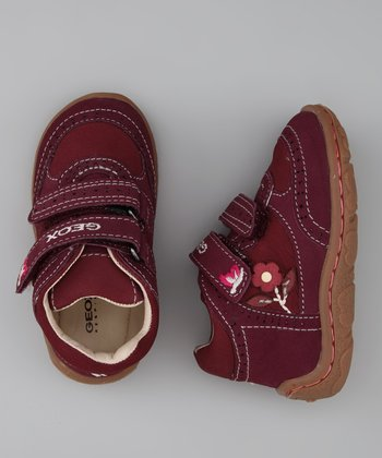 Geox Bordeaux Baby Lolly Sneaker