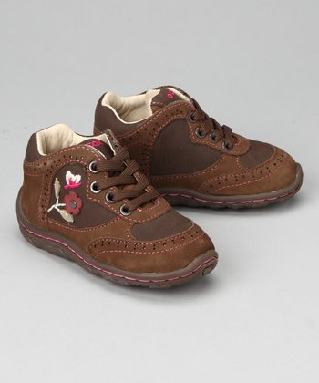 Geox Taupe & Dark Brown Baby Lolly Sneaker