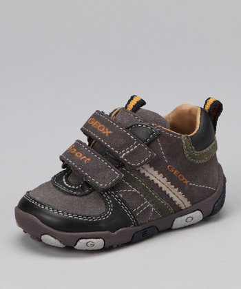 Dark Gray & Black B Balu' Sneaker - Kids