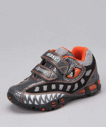 Gray & Orange Jr. Light Eclipse Sneaker - Kids
