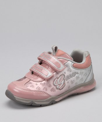 Rose & Light Gray Jr. Magica Sneaker - Kids