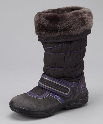 Dark Gray Jr. Frizzy Boot