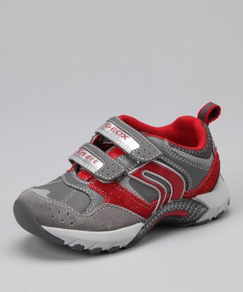 Gray & Red Jr. Stark Sneaker - Kids