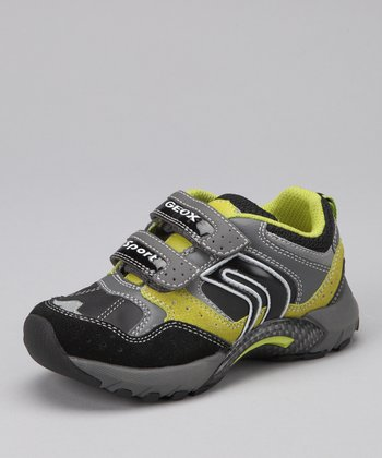 Black & Lime Jr. Stark Sneaker - Kids
