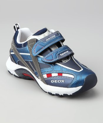 Geox Blue & Red Jr. Stark Sneaker