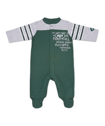 NFL Green New York Jets 'Playoffs' Footie - Infant