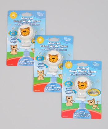 Get Healthy Hands Musical Kitty Hand Wash Timer - Set of Three