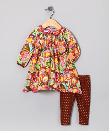 Brown Paisley Tunic & Leggings - Toddler & Girls