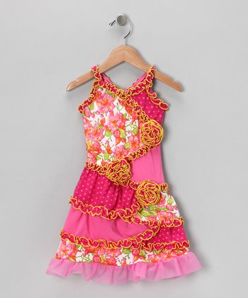 Pink Floral Patchwork Dress - Infant & Toddler