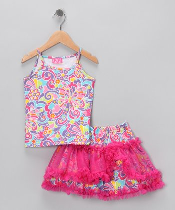 Hot Pink Tank & Skirt - Infant, Toddler & Girls