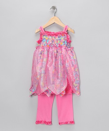 Hot Pink Fairy Tunic & Leggings - Toddler & Girls