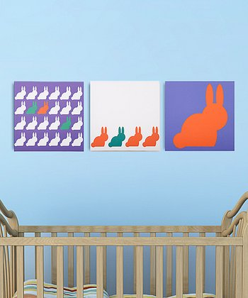Bold Bunnies Canvas - Set of Three