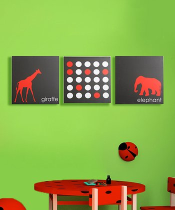 Smarty Pants Animal Faceoff Canvas - Set of Three