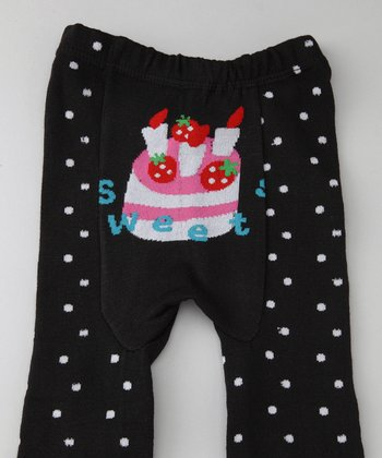 Black Cake Polka Dot Leggings - Infant