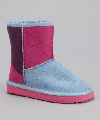 Light Blue & Pink Boot