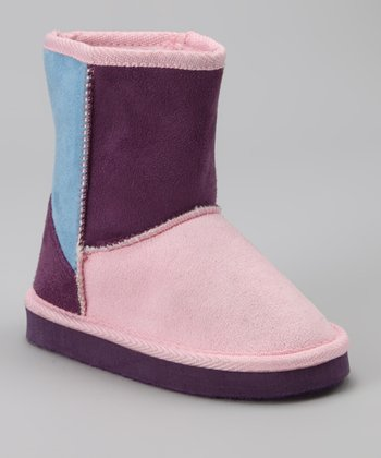 Light Pink & Purple Boot