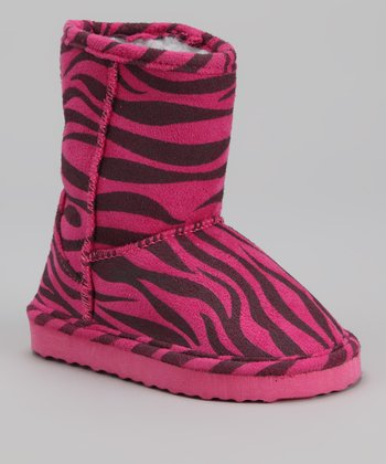 Fuchsia & Gray Zebra Boot