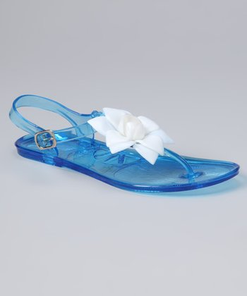 Blue & White Flower Sandal