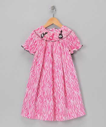 Pink Guitar Bishop Dress - Infant & Toddler