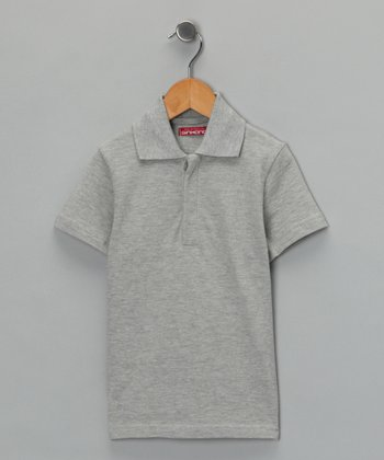 Gray Polo - Toddler & Boys