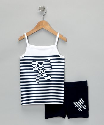 Marino Stripe Tank & Shorts - Toddler & Girls