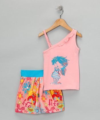 Papaya Girl Tank & Skirt - Toddler & Girls