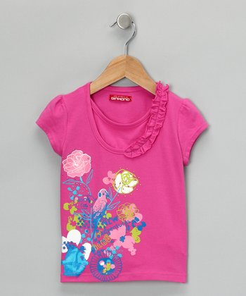 Fucsia 'Adventures' Tee - Toddler & Girls