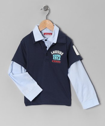 Indigo Dolmen Layered Polo - Toddler & Boys