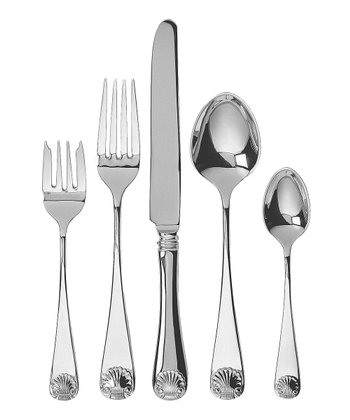 Ginkgo Windsor Shell 20-Piece Flatware Set