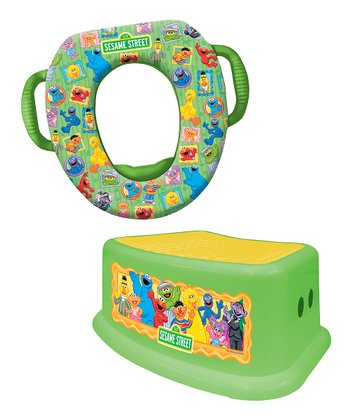 Sesame Street Soft Potty Seat & Step Stool