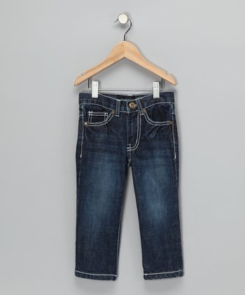Indigo Faded Straight-Leg Jeans - Toddler