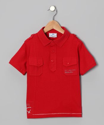 Red Pocket Polo - Toddler & Boys