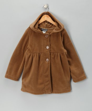Taupe Polar Fleece Jacket - Girls